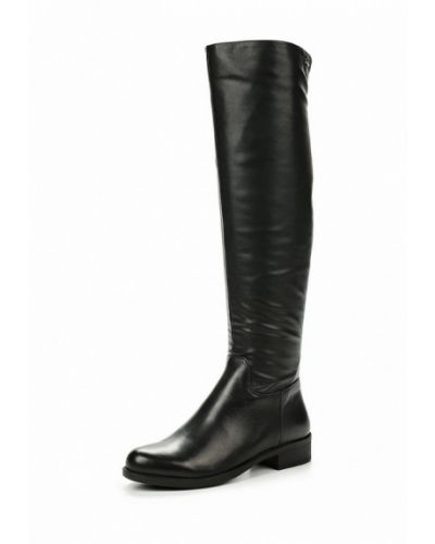 Черные ботфорты кожаные Tervolina