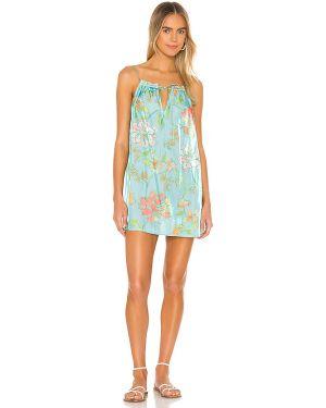 Sukienka mini z paskiem niebieskie Majorelle
