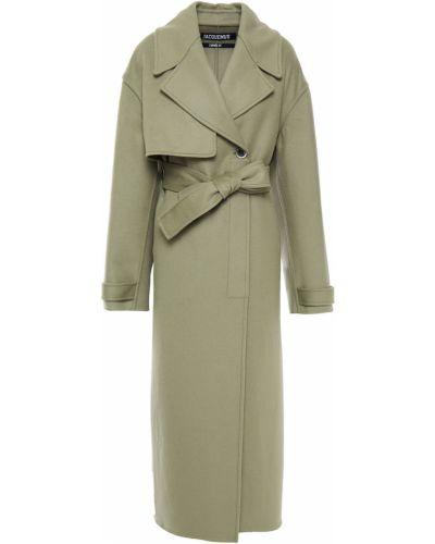 Długi płaszcz wełniany - zielony Jacquemus