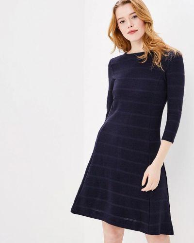 Синее платье с длинными рукавами S.oliver