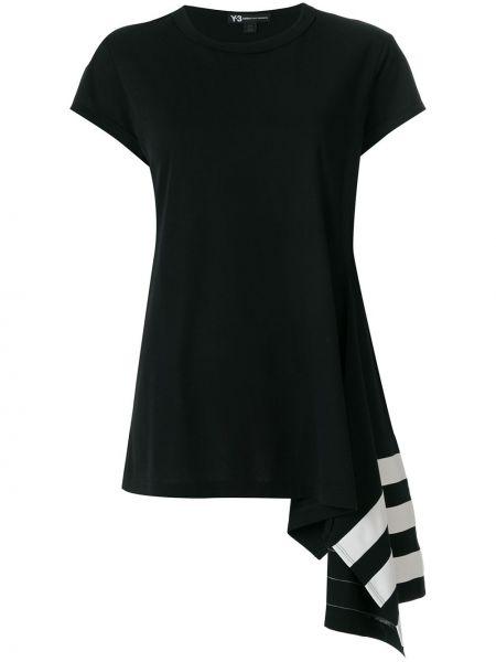 Хлопковая короткая свободная черная футболка Y-3