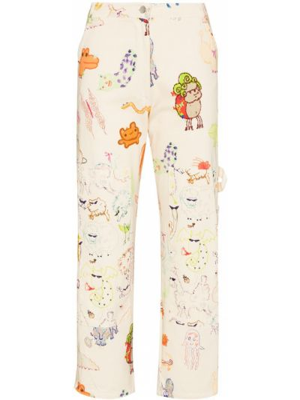 Spodnie bawełniane - beżowe Collina Strada