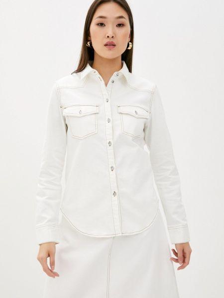 Джинсовая рубашка белая Armani Exchange