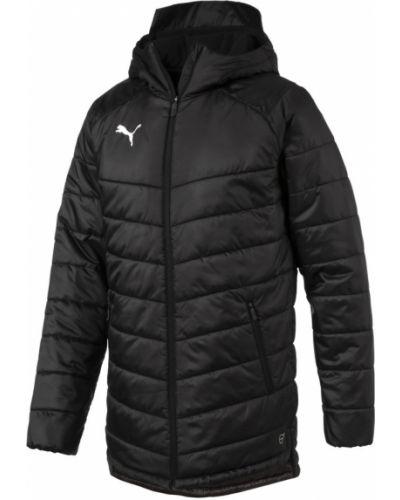 Черная куртка на молнии с карманами Puma