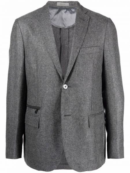 Серый пиджак из вискозы Corneliani