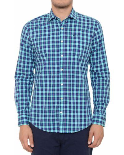 Хлопковая рубашка - синяя New Zealand Auckland