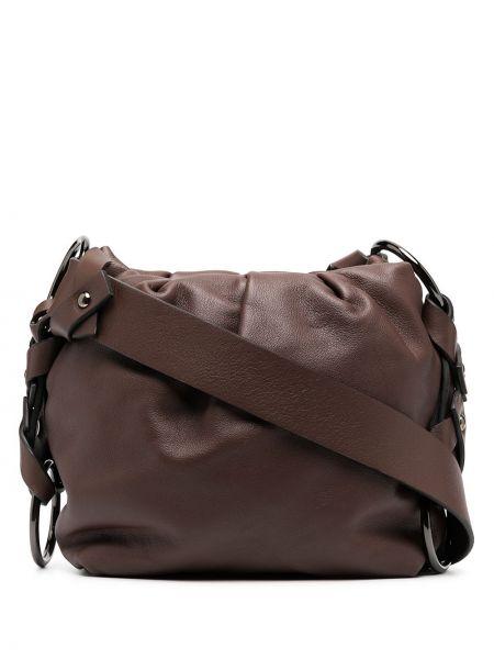 С ремешком кожаная коричневая сумка на плечо Dorothee Schumacher
