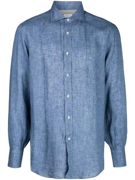 Koszula z długim rękawem wyposażone zapinane na guziki Brunello Cucinelli