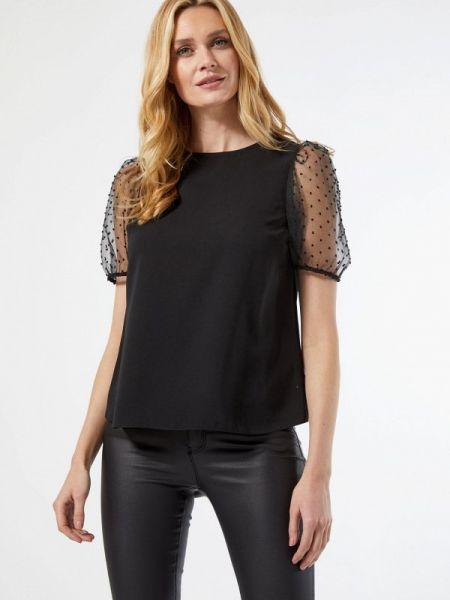 Черная блузка с коротким рукавом Dorothy Perkins