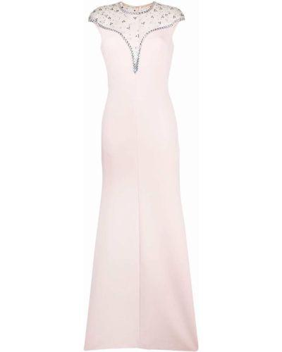 Różowa sukienka rozkloszowana z siateczką z nylonu Jenny Packham
