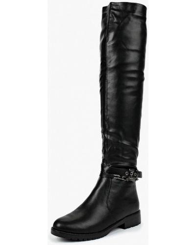 Черные ботфорты кожаные Vivian Royal