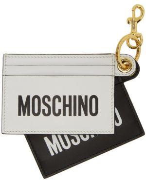 Etui na klucze skórzany czarny Moschino