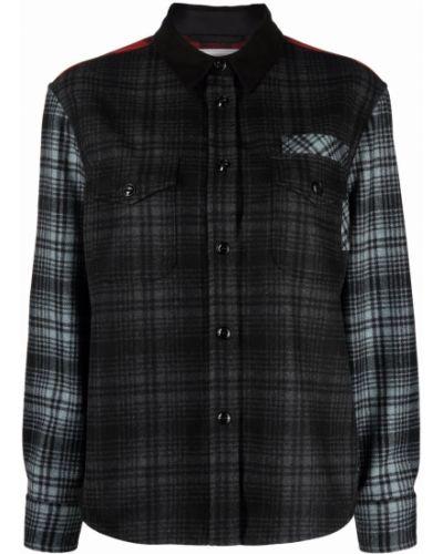 Серая рубашка с манжетами Woolrich