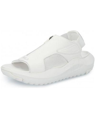 Белые кожаные сандалии Fila