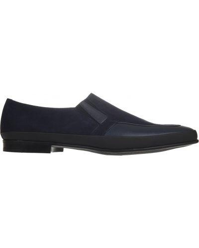 Туфли замшевые синий Pakerson