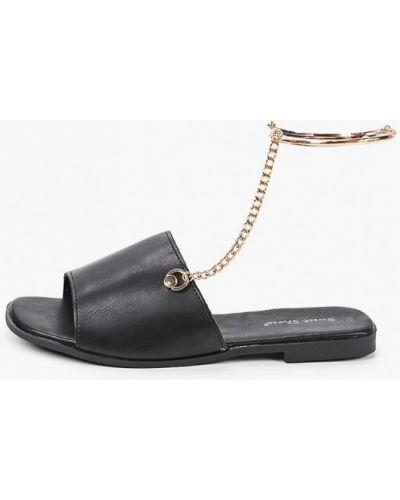 Черные кожаные сандалии Sweet Shoes