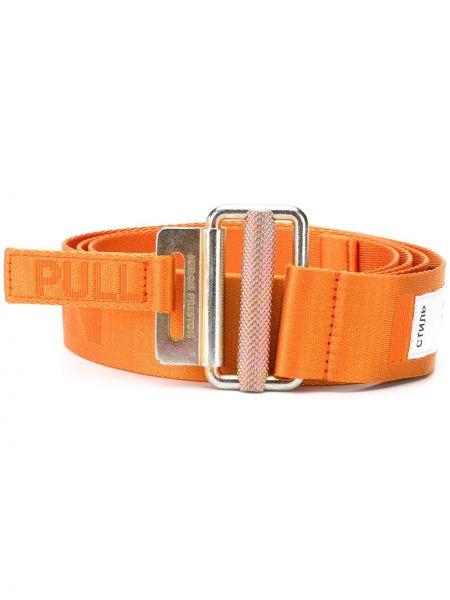 Оранжевый ремень металлический Heron Preston