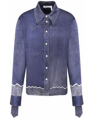 Рубашка темно-синий синяя Chloé