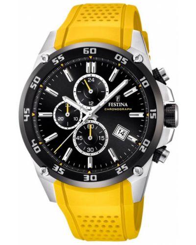 Zegarek srebrny - czarny Festina