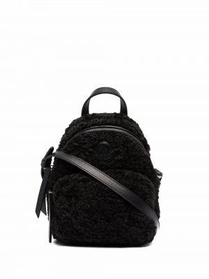 Черная кожаная сумка Moncler