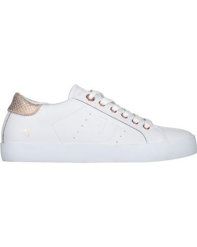 Кеды белые на платформе Trussardi Jeans