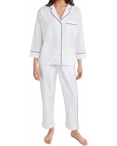 Хлопковая белая пижама с длинными рукавами Sleepy Jones