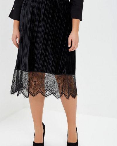 Плиссированная юбка черная Junarose