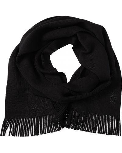 Черный шарф Hugo Boss