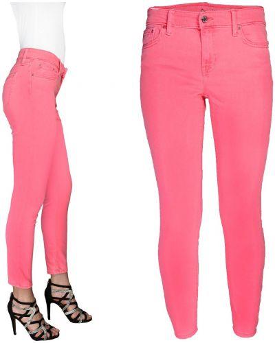 Różowe spodnie rurki bawełniane Gap
