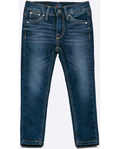 Джинсы зауженные кожаный Pepe Jeans