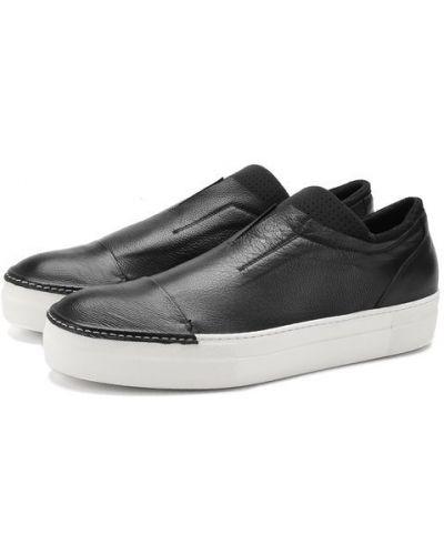 Слипоны черные кожаные Rocco P.