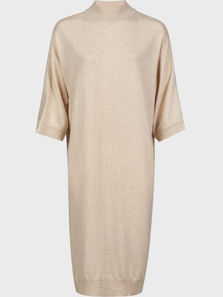 Шерстяное бежевое платье Kontatto