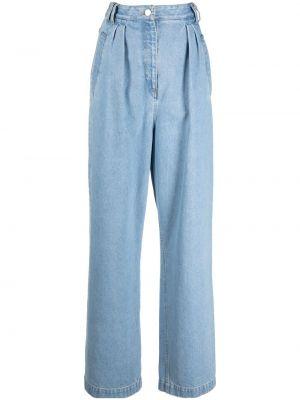 Синие джинсы с завышенной талией Christian Wijnants