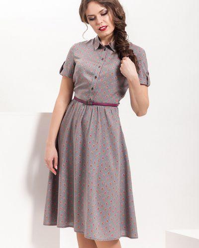 Платье серое на пуговицах Modellos