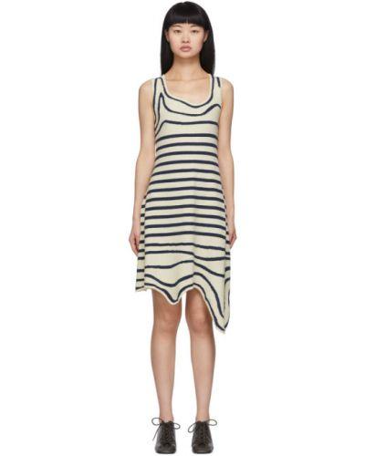 Платье в полоску вязаное Lanvin