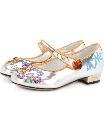Кожаные туфли на каблуке Dolce & Gabbana