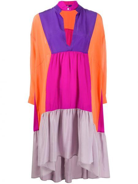 Платье на пуговицах с V-образным вырезом Jejia
