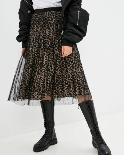 Бежевая плиссированная юбка Softy