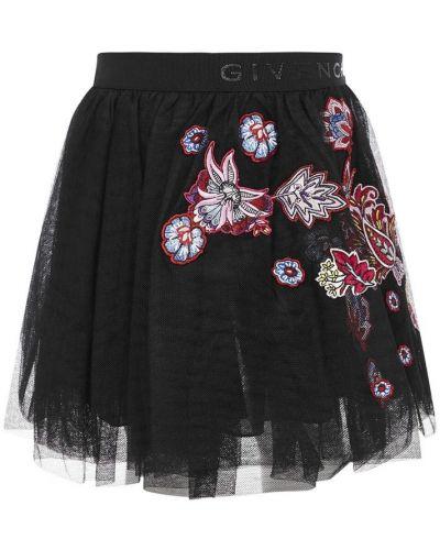 Czarna spódnica tiulowa Givenchy