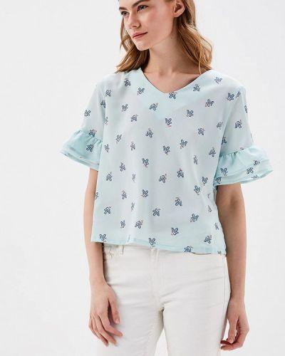 Бирюзовая блузка с рюшами Befree
