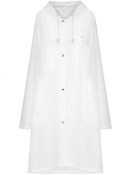 Klasyczny biały płaszcz przeciwdeszczowy z kapturem Vetements