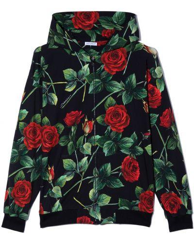 Czarna bluza z nadrukiem z printem Dolce & Gabbana Kids