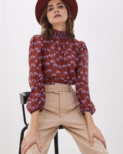 Коричневая блузка с длинными рукавами Trendyol