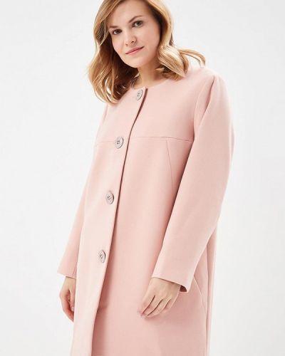 Розовое пальто весеннее Silver String