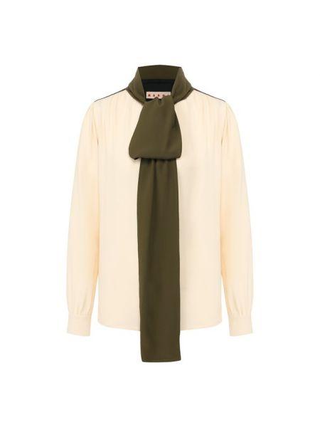 Блузка с бантом зеленый Marni