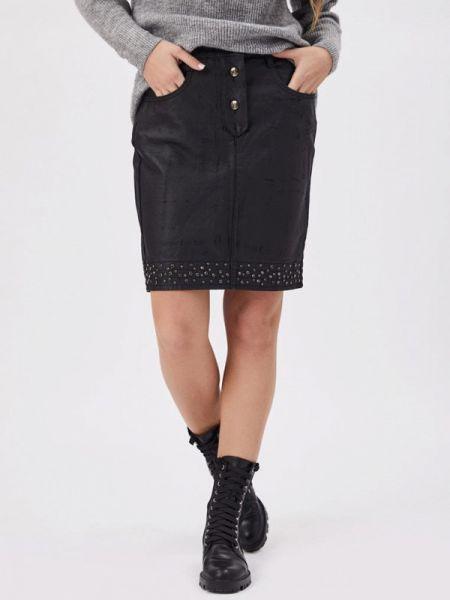 Джинсовая юбка черная весенняя D'she