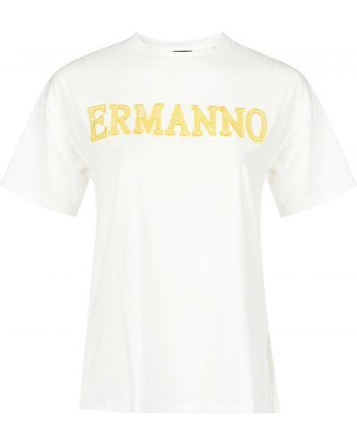 Футболка белая Ermanno Scervino