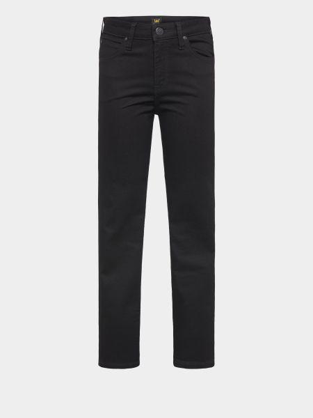 Хлопковые черные джинсы-скинни Lee