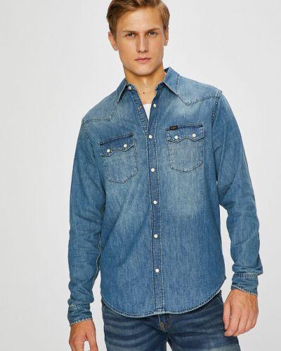 Джинсовая рубашка однотонная с длинным рукавом Lee