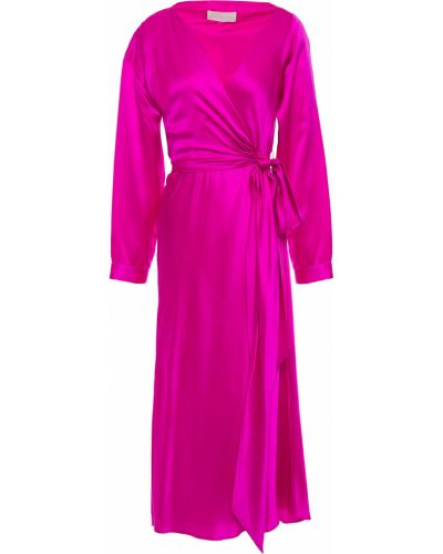 Шелковое платье миди Michelle Mason